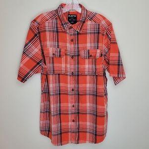 Kavu men's Coastal button up short sleeve shirt Q